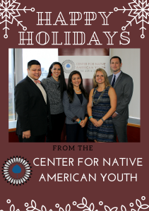 Holiday Photo of Center for Native American Youth Staff
