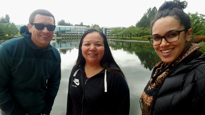 CNAY's Ryan Ward and Amber Richardson with Jackie Blackbird of Nike N7